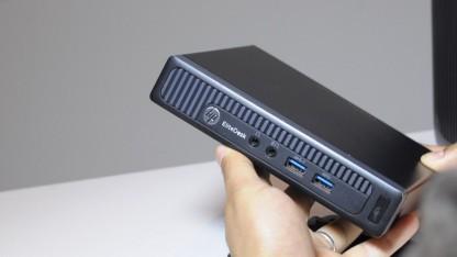 Der Desktop Mini von HP ist sehr kompakt.