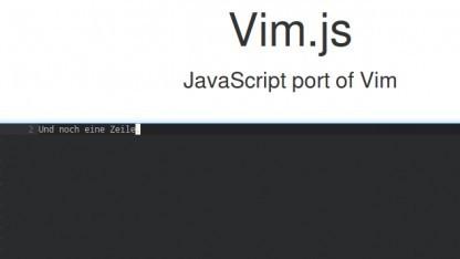 Vim lässt sich jetzt in Webseiten einbauen.