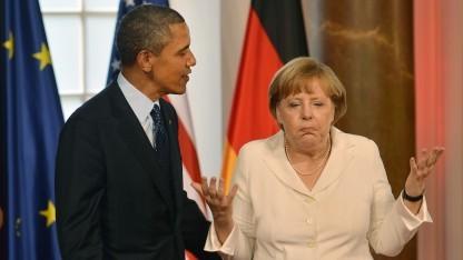 Wie soll es mit der Geheimdienstkooperation weitergehen? US-Präsident Obama und Kanzlerin Merkel