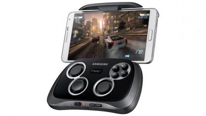 Samsungs neues Smartphone Gamepad mit einem Galaxy Note 2