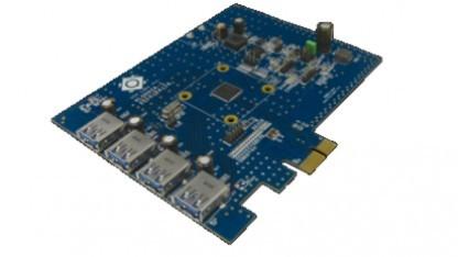 Demo-Board mit dem VL800 für vier USB-3.0-Ports