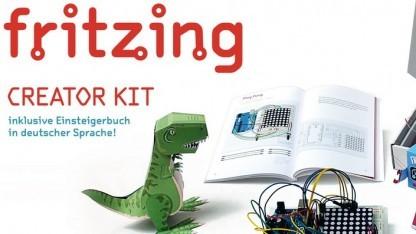 Das Fritzing Creator Kit richtet sich an Einsteiger, die den Umgang mit der Arduino-Entwicklung lernen wollen.