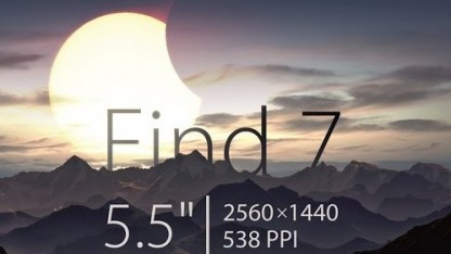 Find 7 kommt mit einem 5,5 Zoll großen Display.