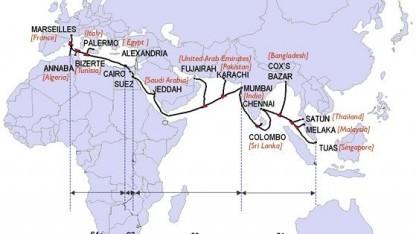 Verlauf des Unterseekabels Sea-Me-We-4