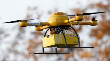 Tests der FAA sollen überprüfen, inwieweit sich Drohnen wie die Paket-Drohne der Deutschen Post in den Luftraum integrieren lassen.