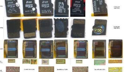 Für ihre Arbeit haben Bunnie und xob zahlreiche SD-Karten untersucht.