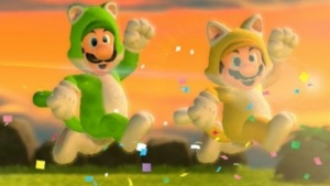 Mario und Luigi im Katzenkostüm