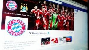 Die Facebook-Seite des FC Bayern München