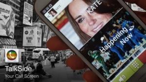 Talkside ersetzt den herkömmlichen Anrufbildschirm und gibt zusätzliche Informationen zum Anrufer.
