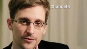 Snowden bei einer Weihnachtsansprache auf Channel 4