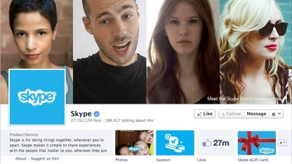Facebook-Account von Skype