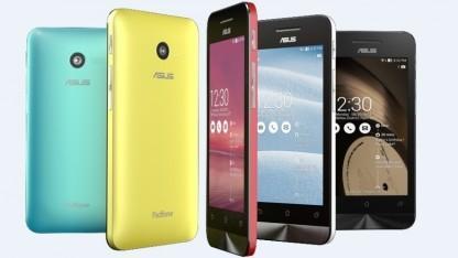 Das Einstiegsmodell Zenfone 4 gibt es in fünf Farben.