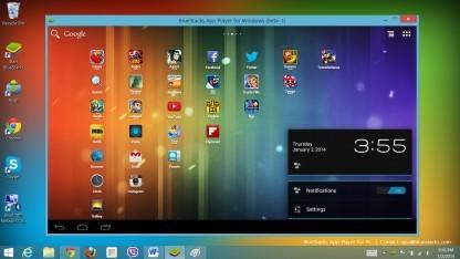 Bluestacks bringt Android-Umgebung auf AMD-Computer.
