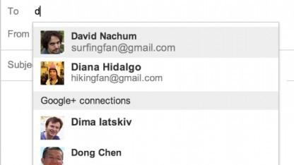 Gmail wird an Google Plus angehängt.