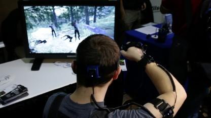 Yei zeigt PrioVR in Kombination mit Wii-Nunchucks.