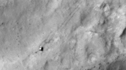 Marsrover Curosity (am 11. Dezember 2013): rund 4,6 Kilometer auf dem Mars zurückgelegt