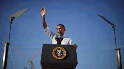 Obama im Januar 2012 auf der Baustelle der Fab 42