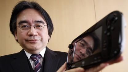 Nintendo-Chef Satoru Iwata mit Wii-U-Smartpad