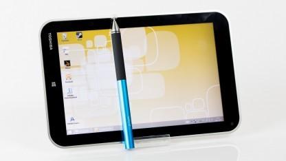 Einen Stift liefert Toshiba beim Encore-Tablet nicht mit.