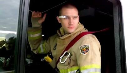 Feuerwehrmann Patrick Jackson und die Google Glass