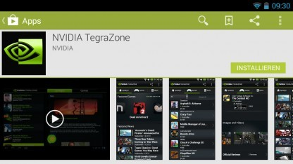 Die Tegra Zone listete bisher für Tegra-SoCs optimierte Spiele auf.