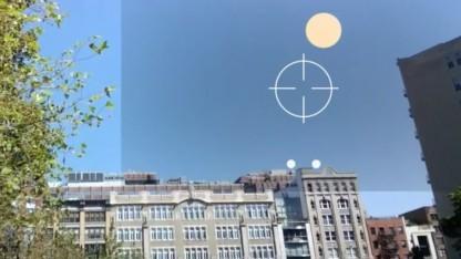 Mit Google Glass in der Öffentlichkeit Tontauben schießen