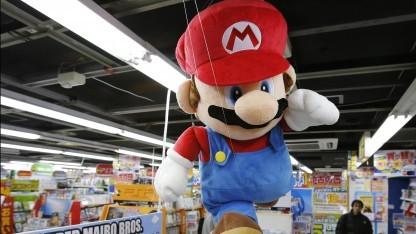 Mario-Figur in einem japanischen Geschäft