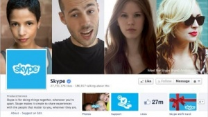 Facebook-Account von Skype