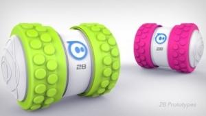 Sphero 2B: schneller Zylinder mit Wechselreifen