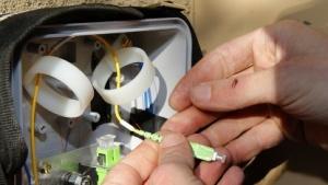 Google-Fiber-Installation in Provo, Utah, im Januar 2014