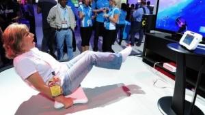Nintendo Wii Fit U auf einer Spielemesse