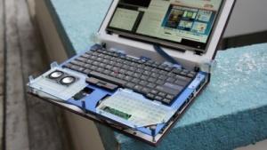 Der Prototyp des Novena, einem Laptop für Hacker