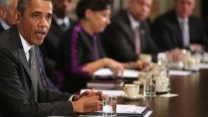 US-Präsident Barack Obama auf einer Kabinettssitzung im Weißen Haus