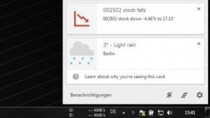 Google Now ist jetzt auch auf dem PC nutzbar.