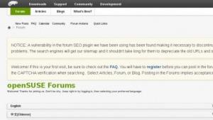 Die Opensuse-Foren sind wieder online.