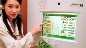 Internetfähiger Kühlschrank (auf der World PC Expo 98): bis 2020 über 200 Milliarden Geräte mit dem Internet verbunden