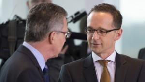 Justizminister Maas und Innenminister de Maizière