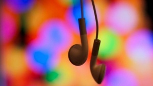 Musik hören aus dem Kopfhörer
