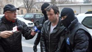 Marcel L. bei seiner Verhaftung in Arad am 22. Januar 2014