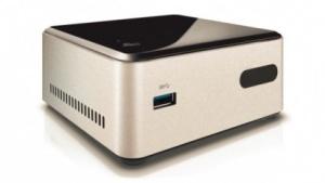 Die Bay-Trail-NUC ist höher als die kleine Haswell-Version, da eine SSD verbaut wird.