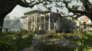 """Die Villa des Plantation Levels aus der """"Swamp Fever""""-Kampagne von Left 4 Dead 2 mit neuer Engine"""