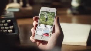 Paper auf einem Smartphone