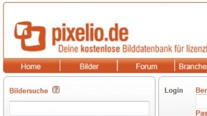 Startseite von Pixelio