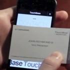 Leitende Tinte: Touchbase scannt Visitenkarten mit dem Touchscreen ein