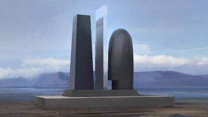 Die Skulptur Eve Monument wird 5 Meter in den Himmel ragen.