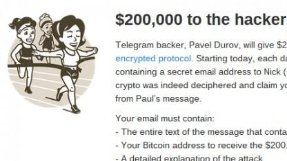 Der Contest von Telegram sagt wenig über die Sicherheit aus.