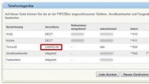 Verdächtige Einträge in der Fritzbox-Oberfläche sollten gelöscht werden.