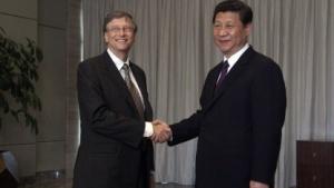 Microsoft-Gründer Bill Gates trifft Xi Jinping im April 2013.