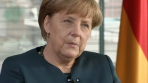 Merkel in ihrer Videoansprache