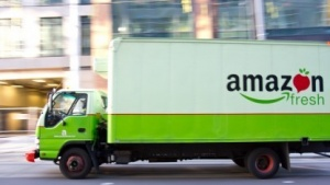 Amazon-Fresh-Lkw in Seattle im Jahr 2010